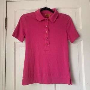 Tory Burch Pink Polo Short Sleeved Shirt Top M